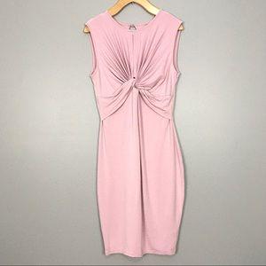 ASOS Stretch Knit Twist Front Hourglass Midi Dress